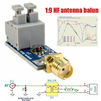1:9 Antenna Balun One Nine Tiny Low-Cost Long Wire HF RTL-SDR 160m-6m Industrial