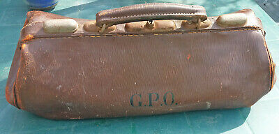 Vintage GPO thick leather General Post Office Engineers Gladstone Style Tool Bag