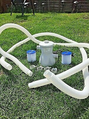 Swimming Pool Pump And 2 New Filters Hoses For 8,10 Ft Pools
