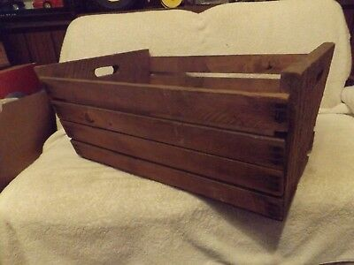 "Vintage Crates Antique Wood V Crate 10"" Tall15"" Wide-22"" Long-Slates Very Good"