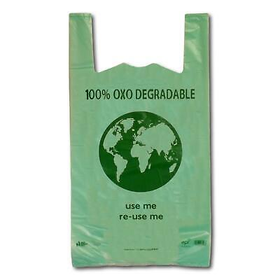 Green Oxo-Degradable Eco Plastic Vest Carrier Shopping Bags