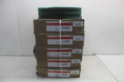Lot of 5 Tough Guy Green Floor Scrubbing Pads 402W24