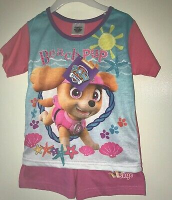 BNWT Girls Pink Paw Patrol Skye Patterned Short Pyjama Set. Age 3-4 Years