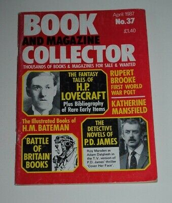 Book Collector # 37 April 1987 - Lovecraft, Bateman, P.D James, Rupert Brooke