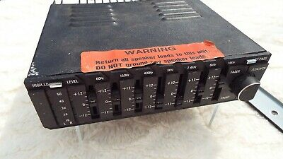 1986 audiovox amp-785 equalizer booster (7 band, amplifier, fader) used