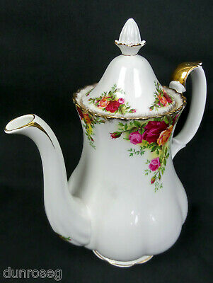 OLD COUNTRY ROSES LARGE COFFEE POT, 1st QUALITY, 1962-73, ENGLAND, ROYAL ALBERT