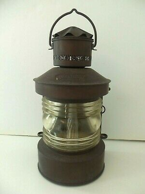 Antique Nautical Ships Lamp Vintage Brass Top Light Cape Cod Style Works