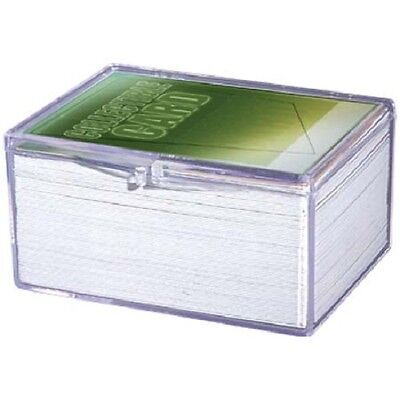 Lot of 3 Ultra Pro 100ct Count Hinged Clear Card Storage Box Boxes New