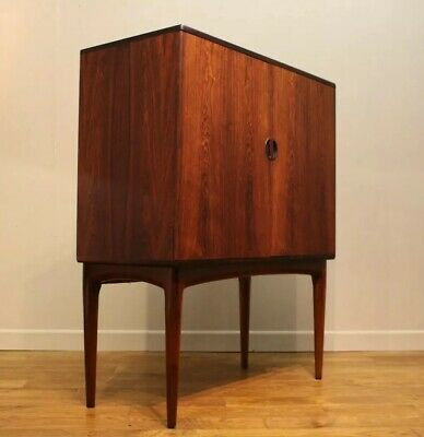 Mid Century Danish Rosewood Cocktail Drinks Cabinet / Sideboard 1960s Vintage