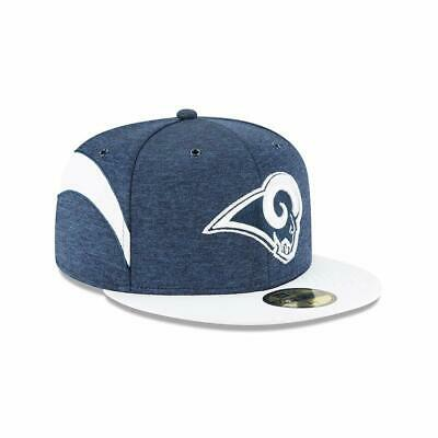 free shipping a0ffe 75cbc New Era Los Angeles Rams 59Fifty Fitted Hat Home Sideline Cap NFL On Field