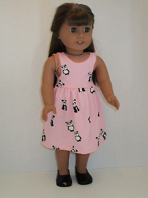 "Pink Panda Sundress for 18"" Doll Clothes American Girl"