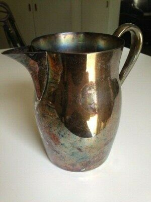 TOWLE Silver Plate Ice Guard Water Tea Lemonade Pitcher Vase