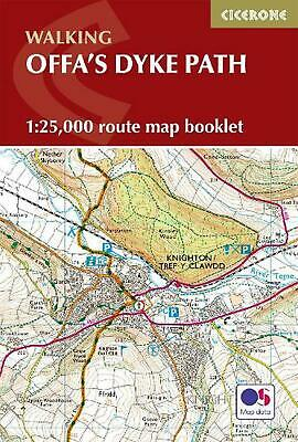 Offa's Dyke Map Booklet: 1:25,000 OS Route Mapping by Mike Dunn Paperback Book F