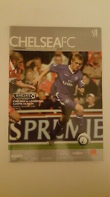 Chelsea FC vs Liverpool Official Matchday Programme 2004-2005