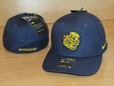 ee877e60 Nike Michigan Wolverines Classic 99' Logo Flex Fitted Hat Cap Men's OSFM -  Blue