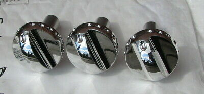 MG Rover MGTF TF MGF F Set of 3 Solid Aluminium Heater Dial Control Switch Knobs