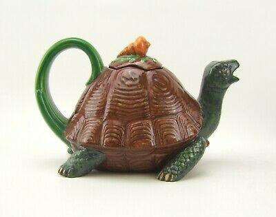 Minton Archive Collection Majolica Tortoise Teapot - Limited Edition