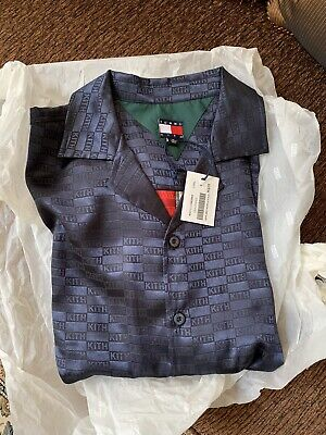 a8122396 Kith X Tommy Hilfiger Satin Camp Shirt Navy SMALL BRAND NEW IN HAND Ronnie  Fieg