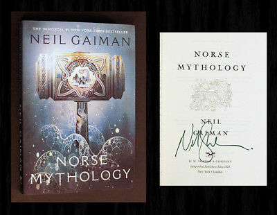 NORSE MYTHOLOGY SIGNED by Neil Gaiman - New SC Ed with the Awesome Cover!