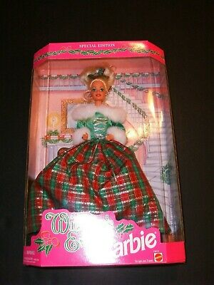 1994 Mattel Barbie Special Edition Winter's Eve Christmas Doll MIB NBRFB