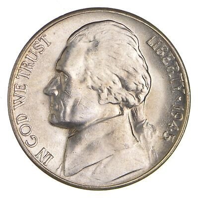 5c BU Unc MS 1945-S Jefferson WARTIME Silver Nickel *962