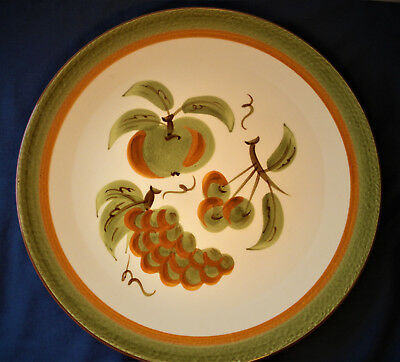 """Vintage STANGL Mid Century Orchard Song 12¼"""" Chop Plate Serving Tray EXCELLENT"""