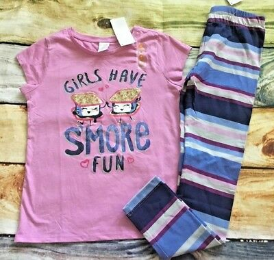 Gymboree Mix N Match 5 6 7 8 10 12 Girls Have Smore Fun Top Leggings NWT Outlet