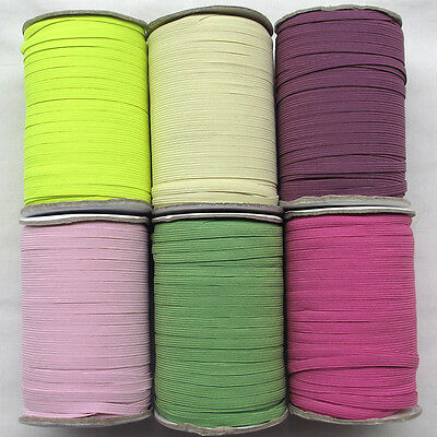 """Upick 6 Colors Braided Elastic Sewing Craft  1/4""""(6mm) Wide Trim 20Yards R0501"""