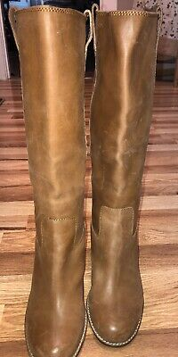 """e31f9d5b17c LUCKY BRAND MAIDIE Tuscany Tall Leather Boots 3.5"""" Heel 17"""" Total Height  8.5 M"""