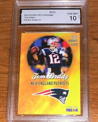 Tom Brady Donruss Rated Rookie Novelty Football Card Graded