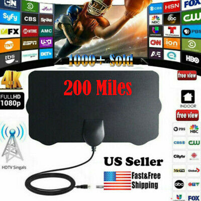 350 Mile Range Antenna TV Digital HD Skywire Antena Digital Indoor HDTV 1080P HD