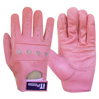 Ladies Leather Riding Gloves Soft Wheel Chair Driving Gloves SIZE S-M