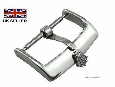ROLEX STAINLESS STEEL WATCH STRAP BUCKLE 16MM 18MM 20MM Silver FREE FAST POST