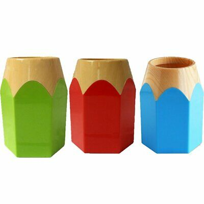 Creative Pen Vase Pencil Pot Pen Holder Stationery Desk Tidy Container ZK