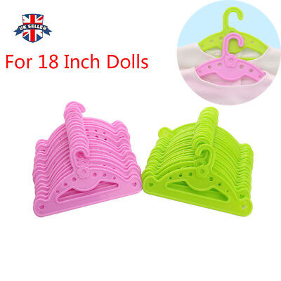 18 Inch Doll Clothes Accessory 10 PCS Hangers Made For American Girl Dolls uu2