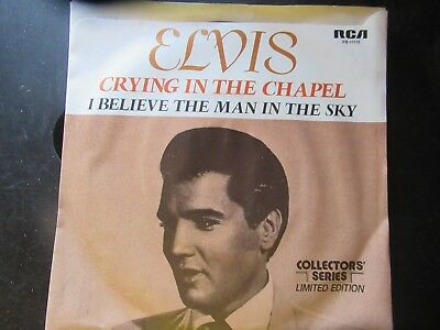 45 RPM Record  ELVIS PRESLEY  Crying In The Chapel   With PICTURE SLEEVE