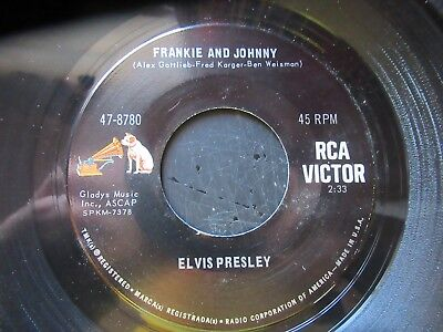 45 RPM Record  ELVIS PRESLEY    Frankie And Johnny    MINT  Dog On Side