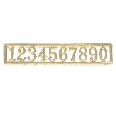 1:12 Dollhouse miniature door numbers for doll house room decoration ES