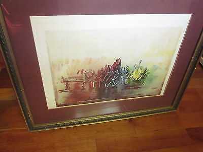 "Lg Signed AP Artist Proof J Kossonogi CONCERT 30""x24"" Lithograph w Certification"