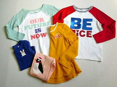 NWT Girls Old Navy Lot of 5 Long Sleeve Tops sz 3t