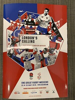 NEW 2019 ENGLAND HSBC LONDON 7s Rugby Union Programme £4 25/05/2019