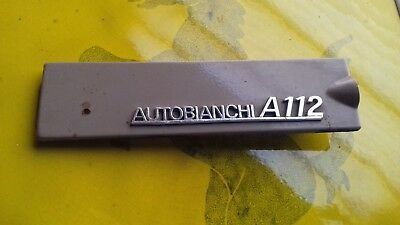Autobianchi A 112 Mostrina Badge Cruscotto 1 Serie No Abarth