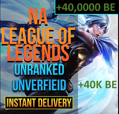 NA 40K BE League Of Legends Account LOL NA Smurf 40,000 BE IP Unranked Level 40+
