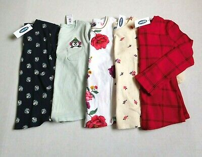 NWT Girls Old Navy Lot of 5 Long Sleeve Tops sz 5t