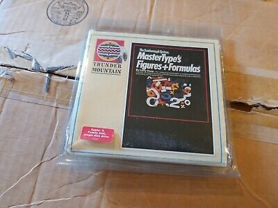 50 Qty Case of Apple II 2 Thunder Mountain MasterType's Figures + Formulas