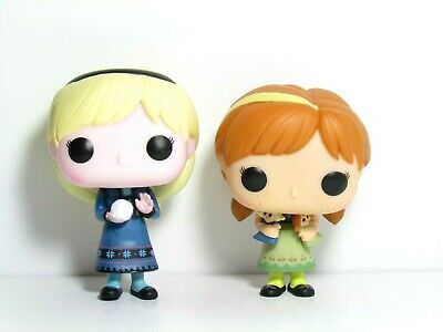Frozen Funko Pop Lot Young Anna & Elsa Loose Figures Disney Vaulted