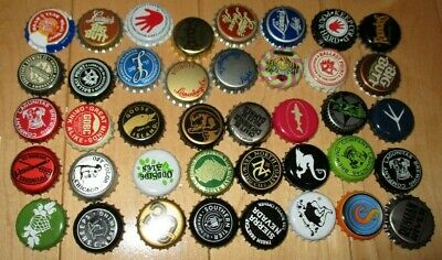 LOT of 40 craft beer BOTTLE CAPS brewery brewing dogfish head founders stone A