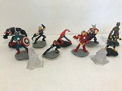 Disney Infinity 2.0 Marvel Figures Spiderman, Captain America and more!
