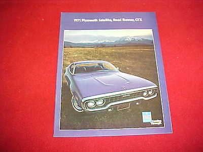 Collectibles Transportation Collectibles Other Vintage Auto Brochures 1971 Plymouth Satellite Road Runner Gtx Wiring Diagram Manual 71 Zsco Iq