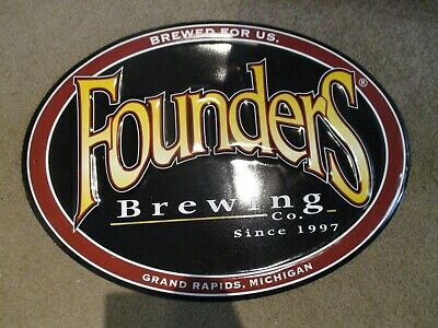 FOUNDERS BREWING CO Text Logo PATCH label craft beer brewery KBS Dirty Bastard